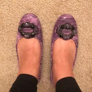 Stuart Weitzman Purple Flats